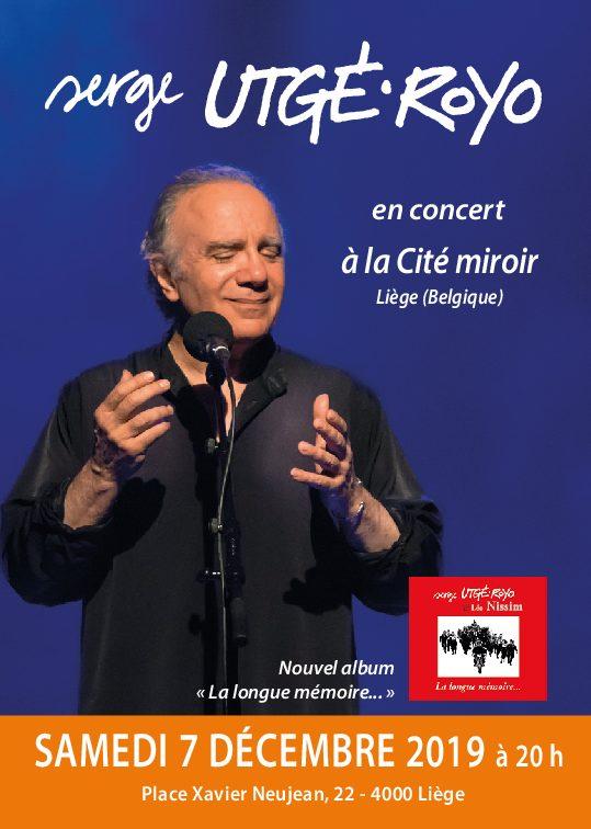 Le samedi 7 décembre, 20 h 30, à Liège (Belgique), La Cité miroir